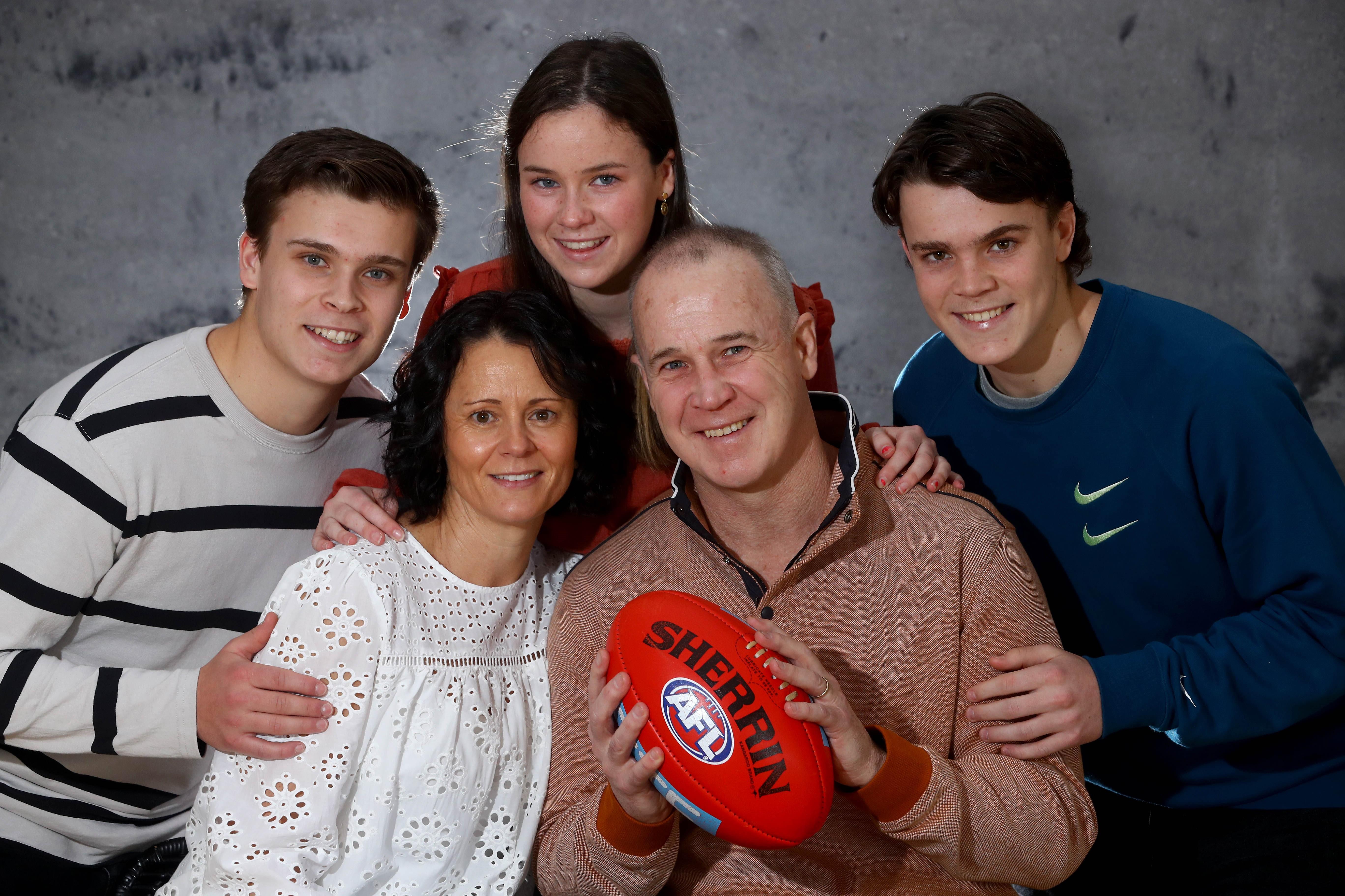 Glenn and family - photo courtesy of Geelong Advertiser